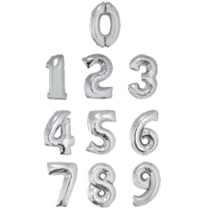 globos de numeros con helio